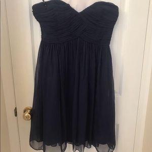 Navy Strapless Donna Morgan Dress